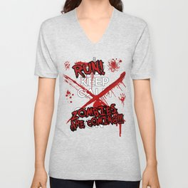 Run Zombies Are Coming Halloween T-Shirt Unisex V-Neck