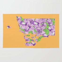 Rhode Island in Flowers Rug