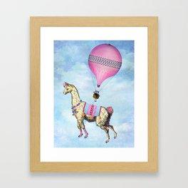 Flying Llama Framed Art Print