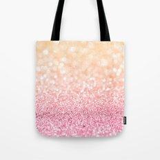 Pink and Orange Glitter Tote Bag