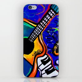 Carnival Jazz Painting iPhone Skin