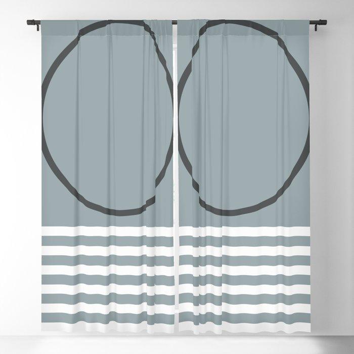 Geometric Form No.10 Blackout Curtain