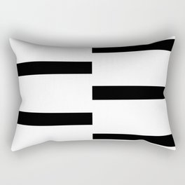 Double Black White Stripe Rectangular Pillow