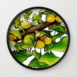 gingko immerse relaxation Wall Clock