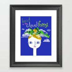 Head in the Cloud Forest Framed Art Print