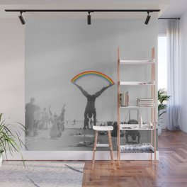 Straddle Rainbow Handstand Wall Mural