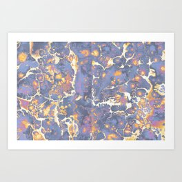 Complementary Paint Marble Art Print