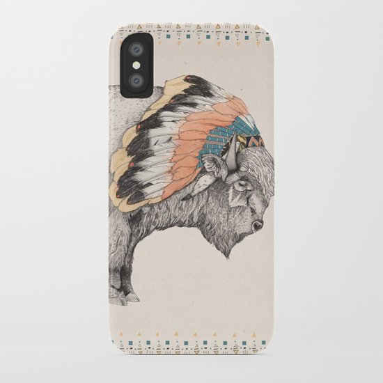 White Bison iPhone Case