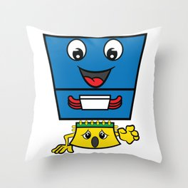 CPU Heat Sink Cooler Control Processing Unit Computer T-shirt Design for Sociacle Persons Technician Throw Pillow