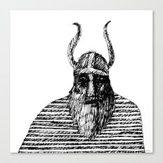 Viking with his striped cape Canvas Print