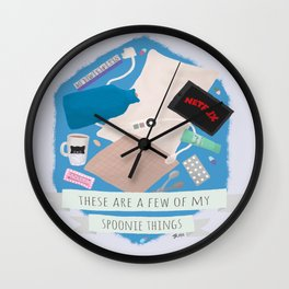Spoonie Things Wall Clock