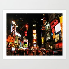 Time Square Doesn't Sleep Art Print