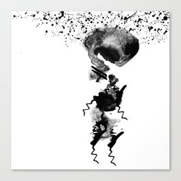 human in shower Canvas Print