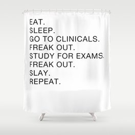 Clinical, Nursing Student, Med Student Shower Curtain