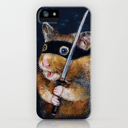 Ninja Hamster iPhone Case