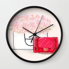 Pink Hydrangeas Coco Wall Clock