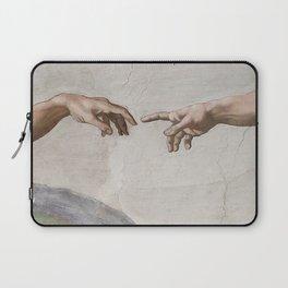 THE CREATION OF ADAM - MICHELANGELO Laptop Sleeve