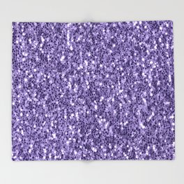 Ultra violet purple glitter sparkles Throw Blanket