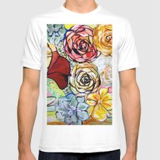 Southern California Garden Mens Fitted Tee MEDIUM White