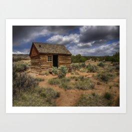 Morrell Line Cabin- Capitol Reef National Park, Utah Art Print