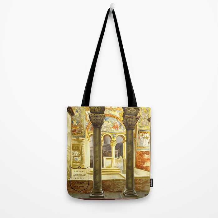 Vintage Ravenna Italy Travel Tote Bag