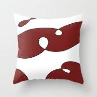 burgundy Throw Pillows featuring Burgundy by JabrikDesign