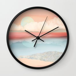 Mint Moon Beach Wall Clock
