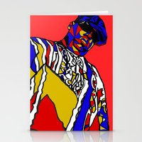 biggie Stationery Cards featuring BIGGIE by Fake Wealth