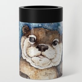 Watercolor Otter Can Cooler
