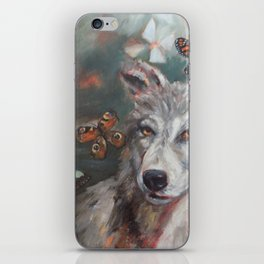 Butterfly Wolf iPhone Skin
