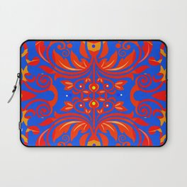 Neo Boho Rococo Baroque Floral Elegant Print Laptop Sleeve