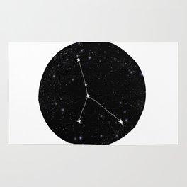 Cancer zodiac constellation star chart night sky star signs Rug