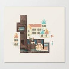 Resort Type - Letter L Canvas Print