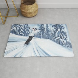 Dropping The Dream Forest Rug