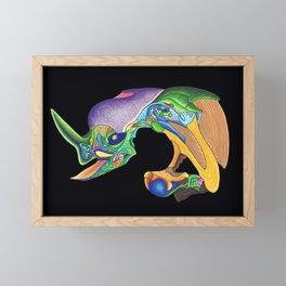 Perch 4 Framed Mini Art Print