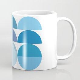 Mid Century Modern Abstract Geometric Minimal Circles Coffee Mug