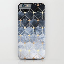 Blue Hexagons And Diamonds iPhone Case