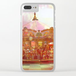 Merry Go Round Clear iPhone Case