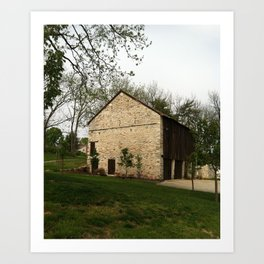 Barn at Duportail House Art Print