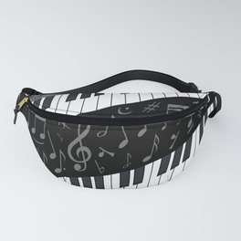 Contemporary Curved music Fanny Pack