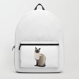 Graceful Siamese Cat Backpack