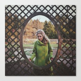 The Girl in the Green Peacoat Canvas Print