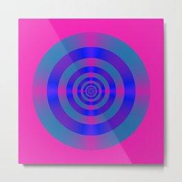 Blue Violet and Pink Target Metal Print