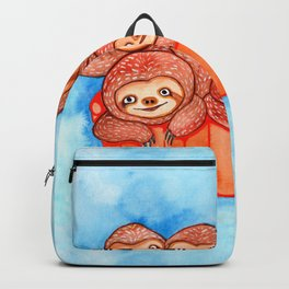 Watercolor Art | Bucketful of Sloths Backpack