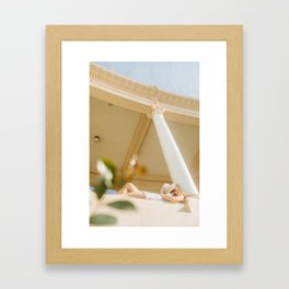 The thought of an Italian Summer Framed Art Print