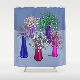 Cascade Flowers Shower Curtain