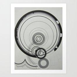black & white . Art Print