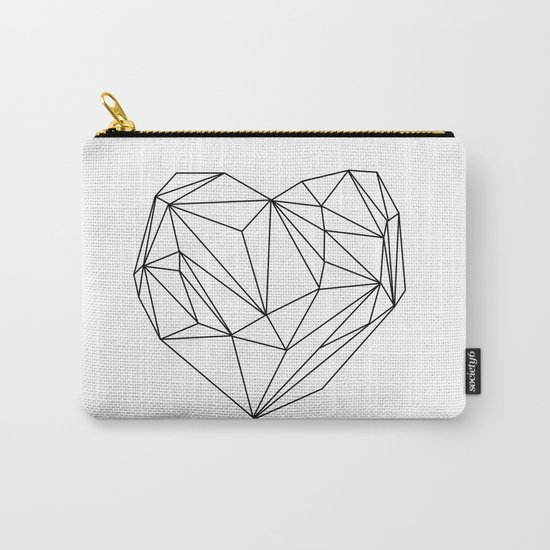 Heart Graphic (black on white) Carry-All Pouch