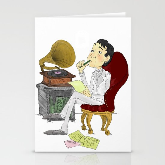 """""""Kisses on the Bottom"""" by Virginia McCarthy Stationery Cards"""