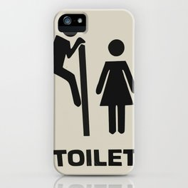 Toilet Door Sign iPhone Case